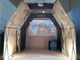 Fast pop up tent Arko as exhibition stand