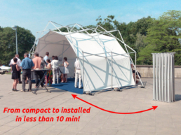 fast to install pop up tent with compact as comparison form next to it